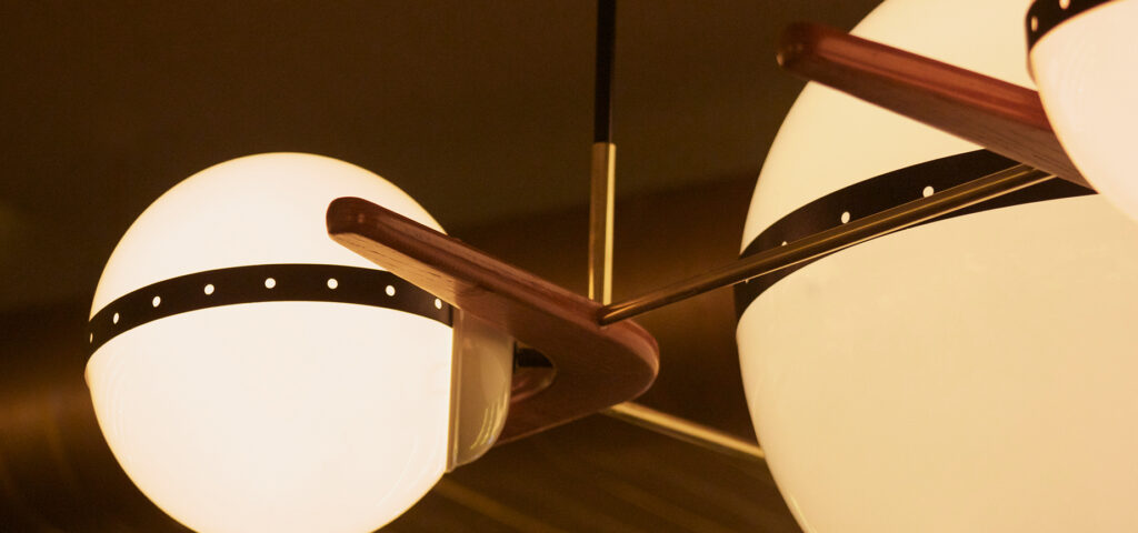 Lámpara esférica colgante