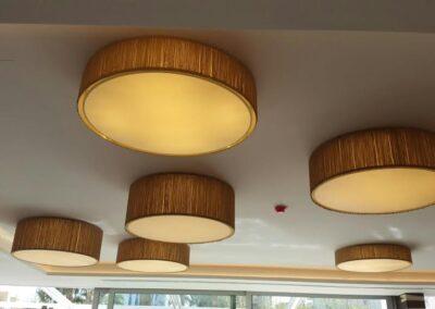 Lámparas de techo circulares de pantalla