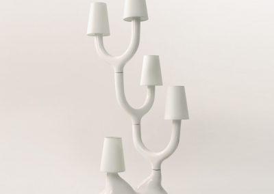 Lámpara blanca de cerámica