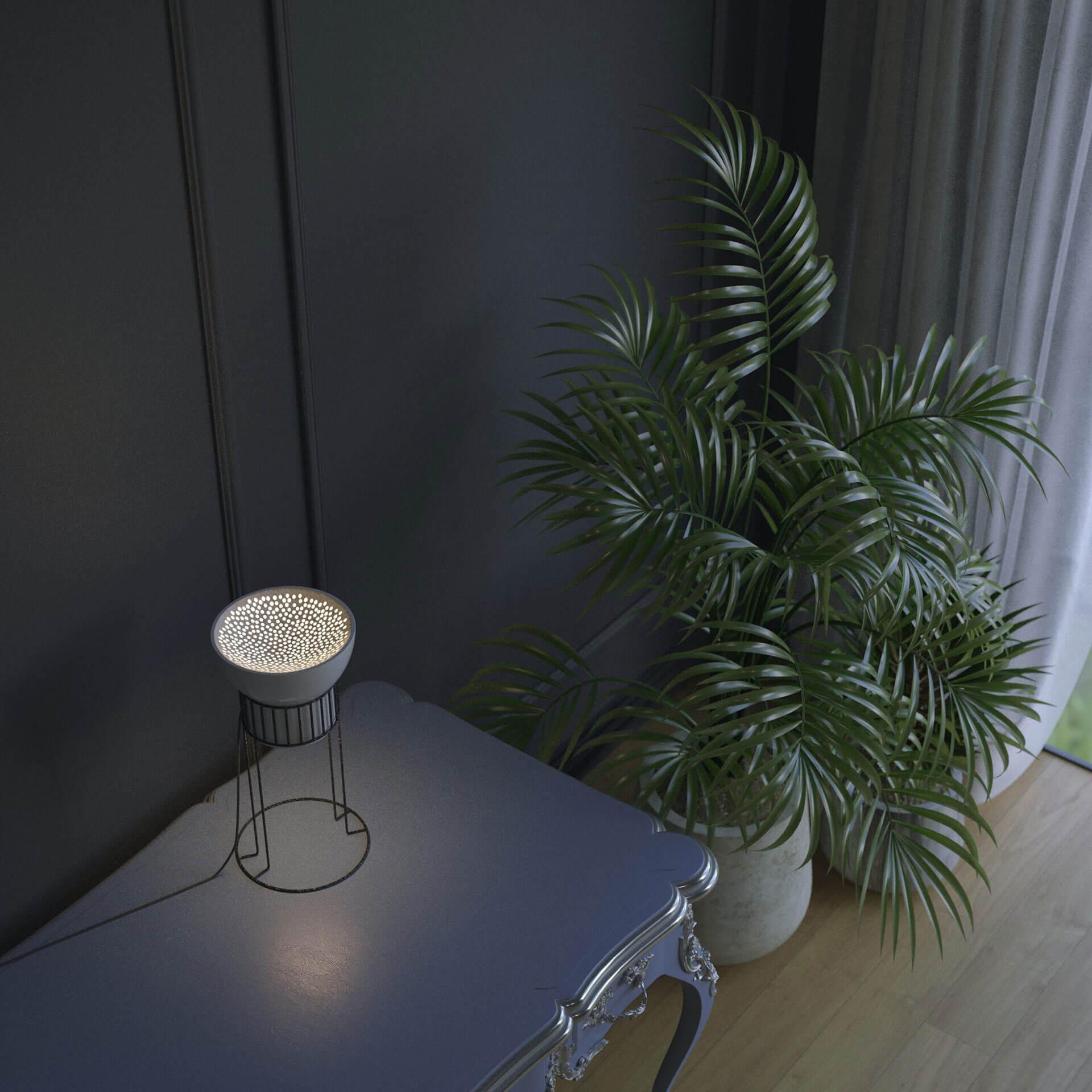 ambiente de la lámpara de cerámica de mesa
